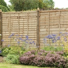 Pressure Treated Superlap Fence Panel 6' x 5' (183cm x 152cm)