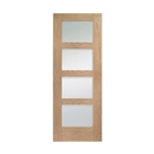 Oak Pre-Finished Shaker Obscure Glass Door 1981mm x 838mm x 35mm 33""