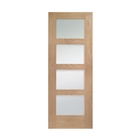 Oak Pre-Finished Shaker 4 Light Clear Glass Door 1981mm x 686mm x 35mm 27""