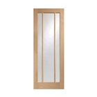 """Oak Pre-Finished Worcester Clear Glass Door 1981mm x 686mm x 35mm 27"""""""