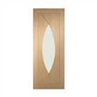 Oak Pesaro Clear Glass Door 2040mm x 826mm x 40mm