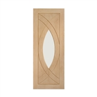 Oak Treviso Clear Glass Door 1981mm x 762mm x 35mm 30""