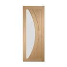 Oak Salerno Clear Glass Door 1981mm x 838mm x 35mm 33""