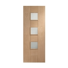 Oak Messina Obscure Glass Door 1981mm x 762mm x 35mm 30""