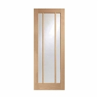 Oak Worcester 3 Light Clear Glass Door 1981mm x 762mm x 35mm 30""