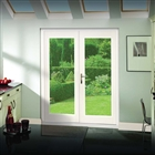 Pre-Finished White 5' La Porte French Door Set (Chrome) 1490mm x 2074mm FSC