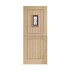 """Oak M&T T/G Chancery Stable Brass Caming 1981mm x 838mm x 44mm 33"""""""
