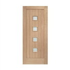 "Oak M&T D/G Siena Obscure Glass 2032mm x 813mm x 44mm 32"" FSC"