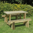 Refectory Table 1.2m & 2 Benches