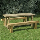 Refectory Table 1.8m & 2 Benches